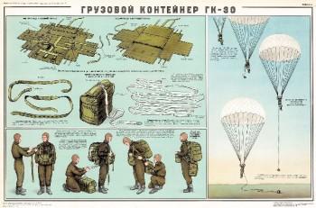 0735. Военный ретро плакат: Грузовой контейнер ГК-30