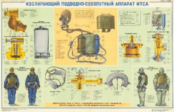 0795. Военный ретро плакат: Изолирующий подводно-сухопутный аппарат ИПСА