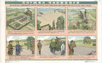 0826. Военный ретро плакат: Служба часового 4