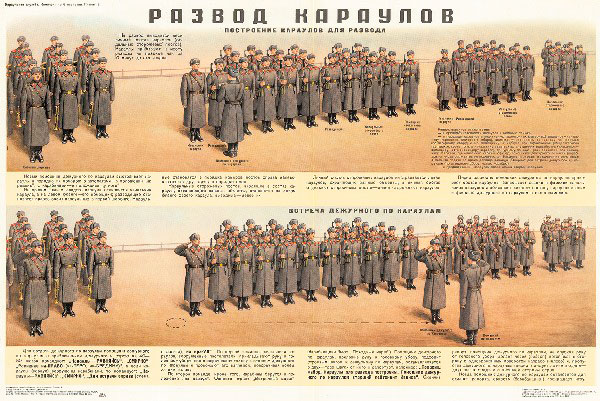 0851. Военный ретро плакат: Развод караулов