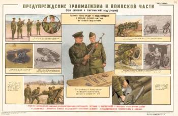 0856. Военный ретро плакат: Предупреждение травматизма в воинской части