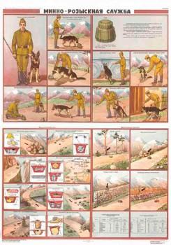 0879. Военный ретро плакат: Минно-розыскная служба