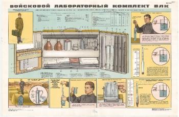 0896. Военный ретро плакат: Войсковой лабораторный комплект ВЛК