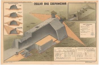 0928. Военный ретро плакат: Общий вид сооружения