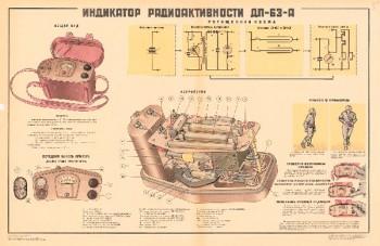 0957. Военный ретро плакат: Индикатор радиоактивности ДП-63-А
