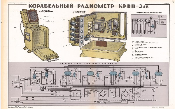 0962. Военный ретро плакат: Корабельный радиометр КРВП-3аб часть 2