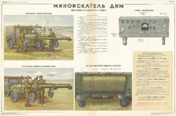 1001. Военный ретро плакат: Миноискатель ДИМ