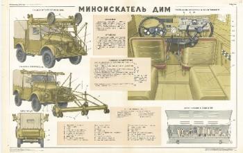 1003. Военный ретро плакат: Миноискатель ДИМ, часть 3