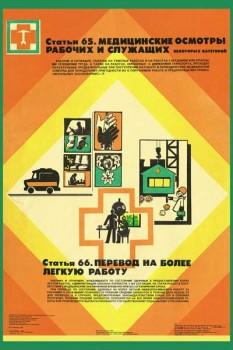 1790. Советский плакат: Медицинские осмотры рабочих и служащих