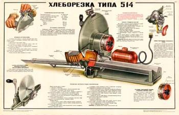 1559. Советский плакат: Хлеборезка типа 514