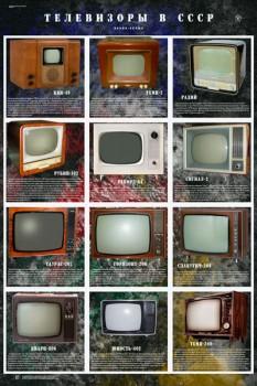 1575. Советский плакат: Телевизоры в СССР