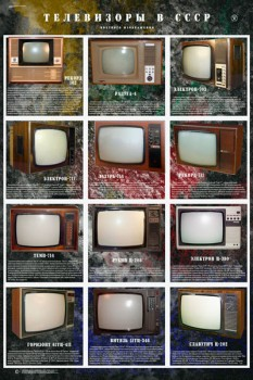 1576. Советский плакат: Телевизоры в СССР (часть 2)