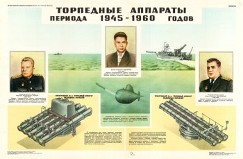 1615. Советский плакат: Торпедные аппараты периода 1945-1960 годов