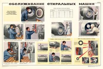 1623. Советский плакат: Обслуживание стиральных машин