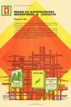 1738. Советский плакат: Право на материальное обеспечение в старости