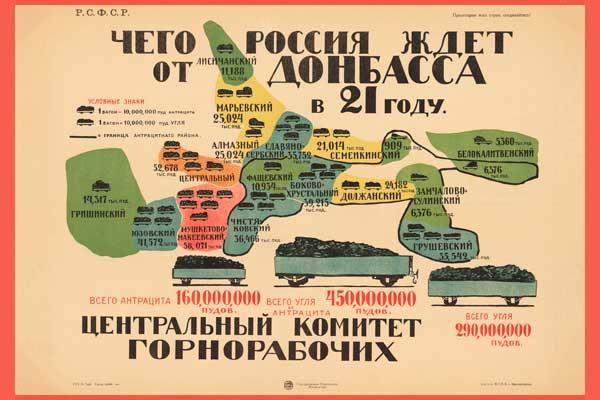 1833. Советский плакат: Чего Россия ждет от Донбасса в 21 году