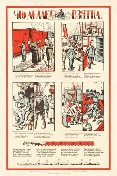 1841. Советский плакат: Что делает взятка