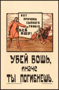 1858. Советский плакат: Убей вошь, иначе ты погибнешь
