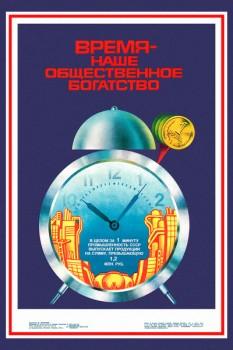 983.Советский плакат: Время - наше общественное богатство