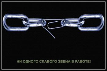 1105. Советский плакат: Ни одного слабого звена в работе!