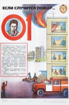 1435. Советский плакат: Если случится пожар - 01