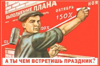 1502. Советский плакат: А ты чем встретишь праздник?