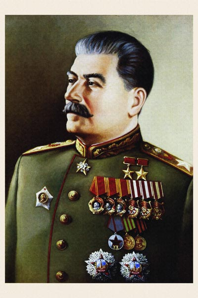 596. Советский плакат: Вдохновитель победы над фашизмом генералиссимус Сталин