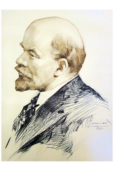 050. Советский плакат: П. Васильев 1930 - В. И. Ленин