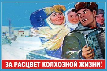 869. Советский плакат: За расцвет колхозной жизни!