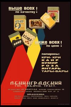905. Советский плакат: Выше всех по качеству! Ниже всех по цене!