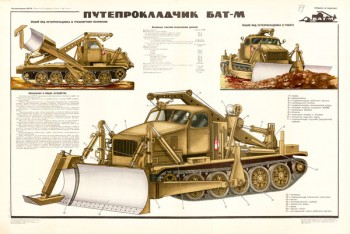 0473 (2). Военный ретро плакат: Путепрокладчик БАТ-М