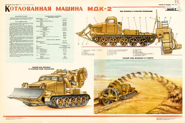 0473 (3). Военный ретро плакат: Котлованная машина МДК-2