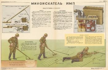 1022. Военный ретро плакат: Миноискатель ИМП