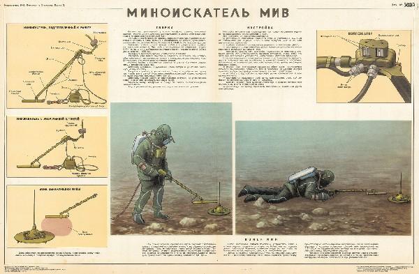 1024. Военный ретро плакат: Миноискатель МИВ
