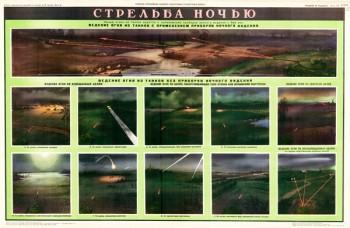 1107 (13). Военный ретро плакат: Стрельба ночью