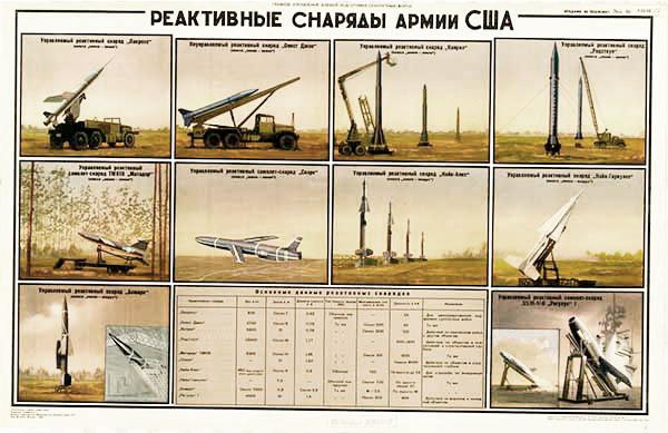1132. Военный ретро плакат: Реактивные снаряды армии США