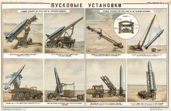1133. Военный ретро плакат: Пусковые установки