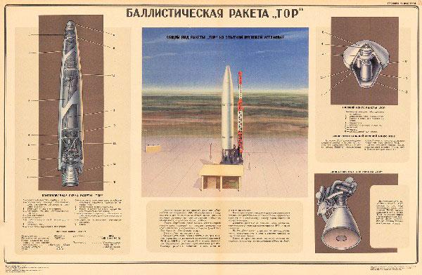 """1137. Военный ретро плакат: Баллистическая ракета """"ТОР"""""""