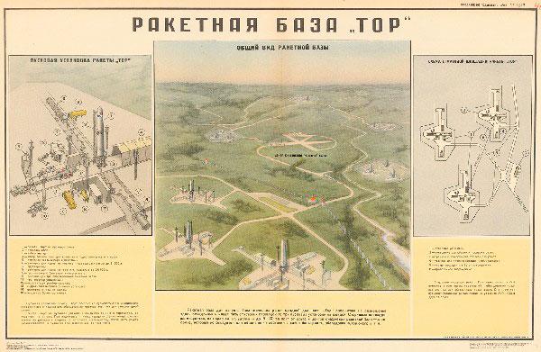 """1139. Военный ретро плакат: Ракетная база """"ТОР"""""""