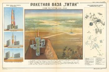 """1143. Военный ретро плакат: Ракетная база """"Титан"""""""