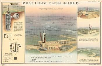 """1145. Военный ретро плакат: Ракетная база """"Атлас"""""""