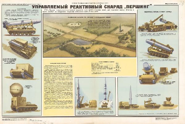 """1150. Военный ретро плакат: Управляемый реактивный снаряд """"Першинг"""""""