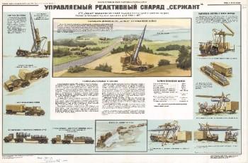 """1151. Военный ретро плакат: Управляемый реактивный снаряд """"Сержант"""""""