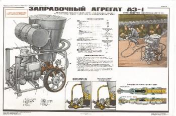 1162. Военный ретро плакат: Заправочный агрегат АЗ-1
