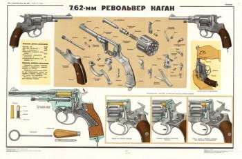 0124. Военный ретро плакат: 7,62-мм револьвер наган