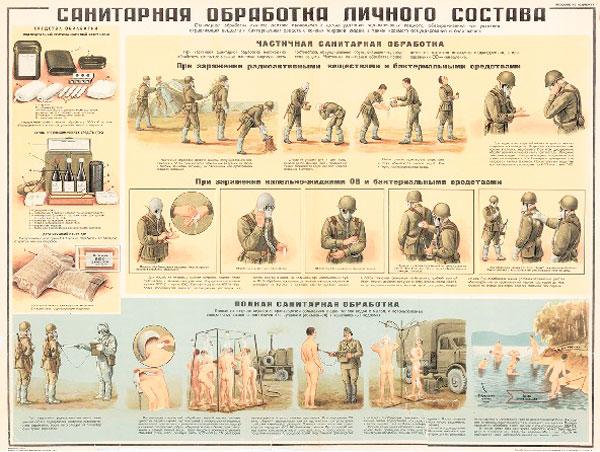 1273. Военный ретро плакат: Санитарная обработка личного состава