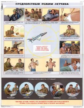 1305. Военный ретро плакат: Предполетный режим летчика