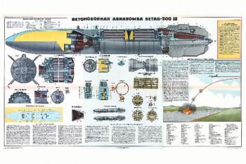 1336 (4). Военный ретро плакат: Бетонная авиабомба БЕТАБ-500-Ш