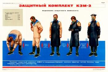 1410 (3). Военный ретро плакат: Защитный комплект КЗМ-2