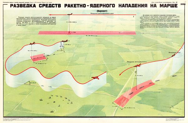 1434. Военный ретро плакат: Разведка средств ракетно-ядерного нападения на марше